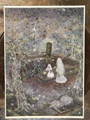画像2: こみねゆら  複製原画「森の王座」