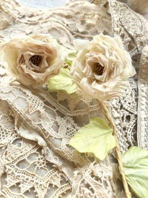 画像1: 【花工房】《蔓薔薇ガーランド くしゅくしゅ薔薇/ピンクベージュ》