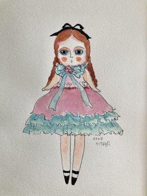 画像1: 青の羊 「少女ドール(私の人形)」